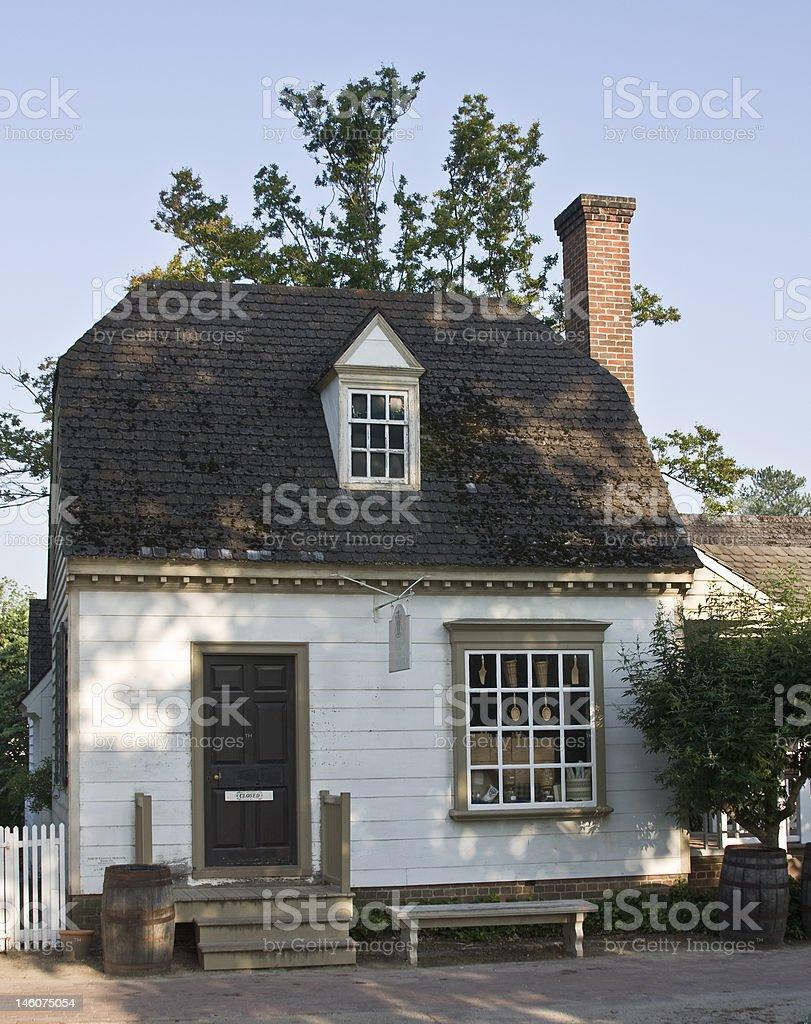 Colonial shop in Williamsburg, Virginia royalty-free stock photo