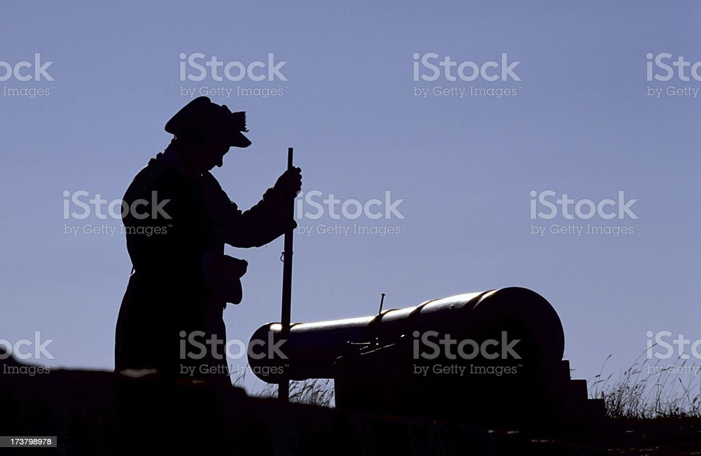 Colonial soldier stock photo