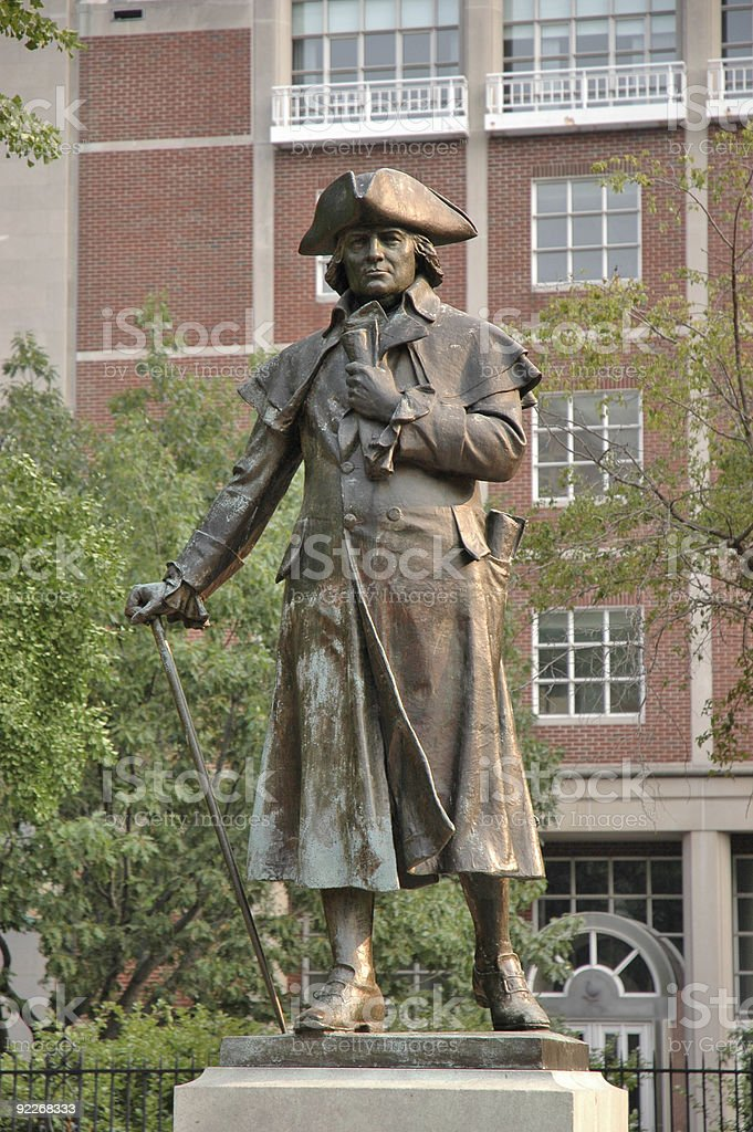 colonial statue royalty-free stock photo