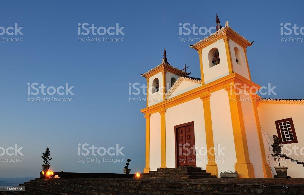 Colonial style Serra da Piedade in Brazil at dusk stock photo
