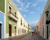 Colonial town Campeche Yucatan Mexico