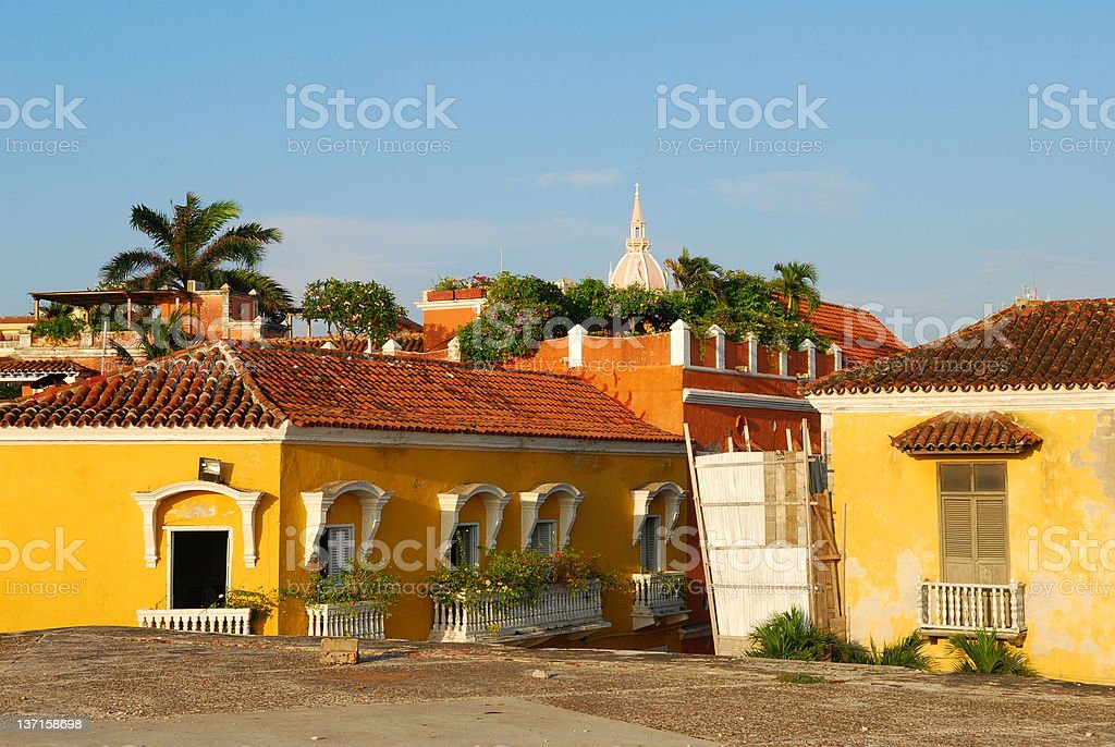 colonial town of Cartagena, Colombia royalty-free stock photo