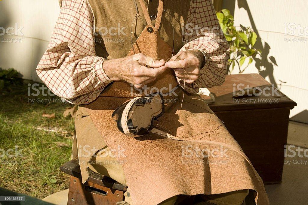 Colonial Tradesman royalty-free stock photo