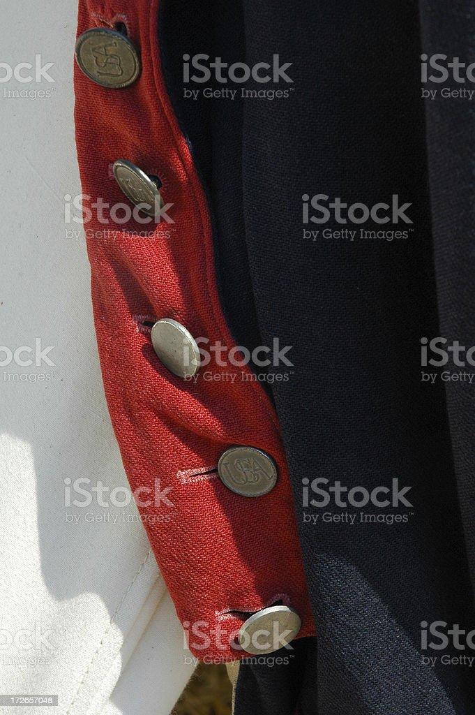 Colonial Uniform stock photo