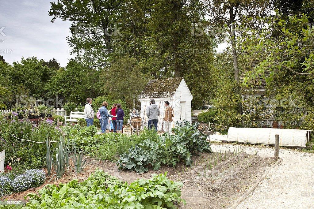 Colonial Vegetable Garden royalty-free stock photo
