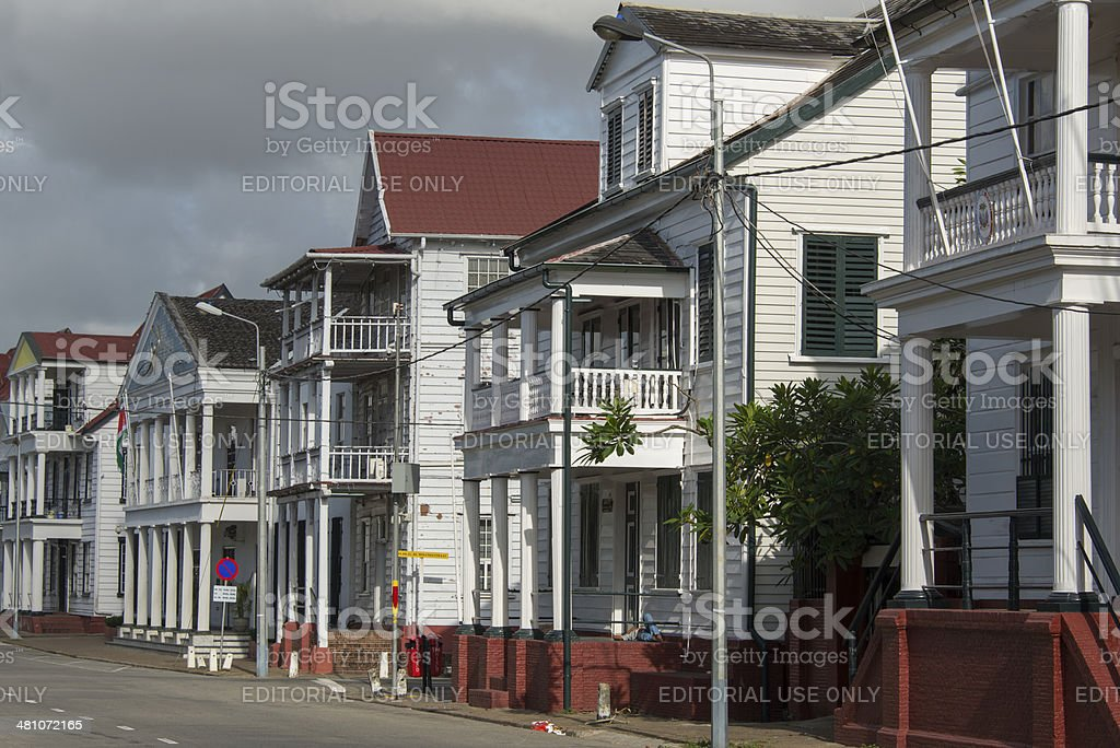 Colonial Waterkant stock photo