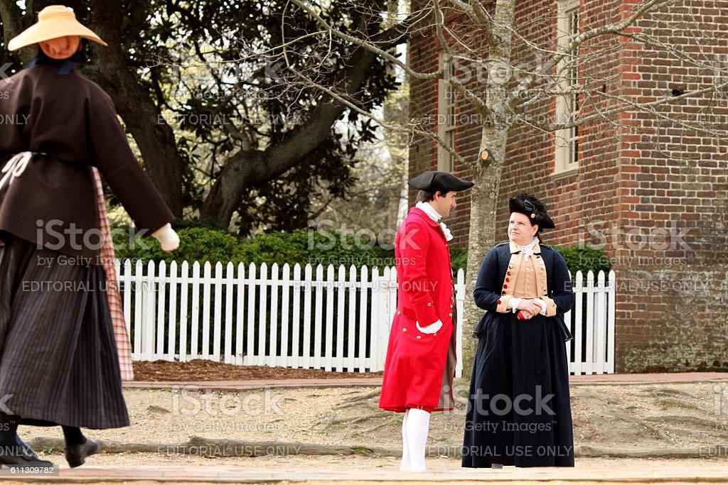Colonial Williamsburg stock photo