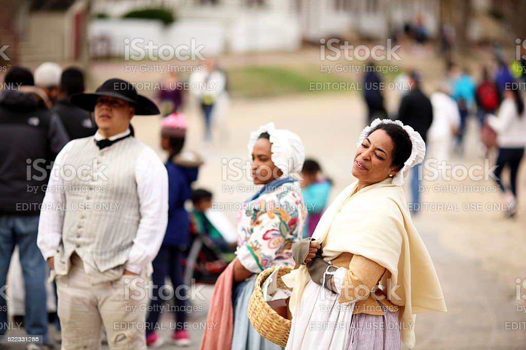 Colonial Williamsburg Reenactment stock photo