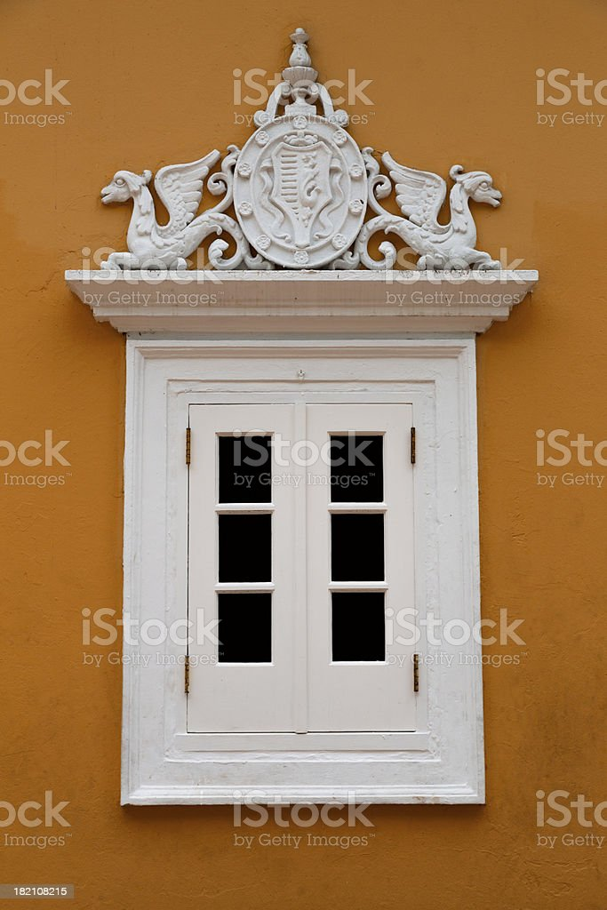 colonial window royalty-free stock photo