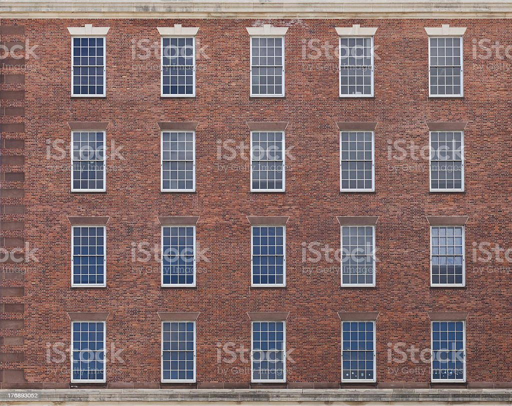 Colonial windows royalty-free stock photo