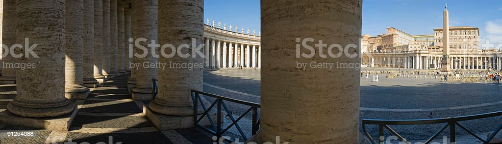 Colonnade and St. Peter's Square, Rome stock photo
