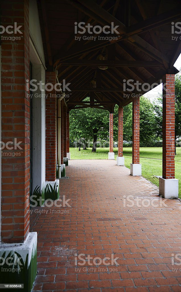 Colonnade. Color Image royalty-free stock photo