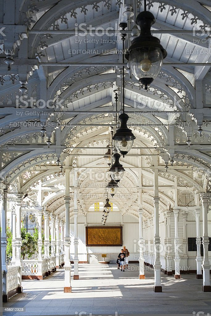 Colonnade in Karlovy Vary, Czech Republic. royalty-free stock photo