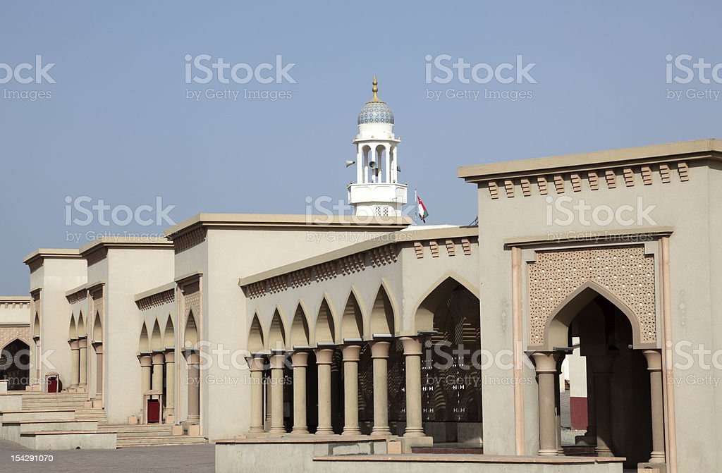 Colonnade in Muttrah, Oman royalty-free stock photo