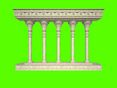 Colonnade in the classic style. Isolated