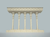 Colonnade in the classic style