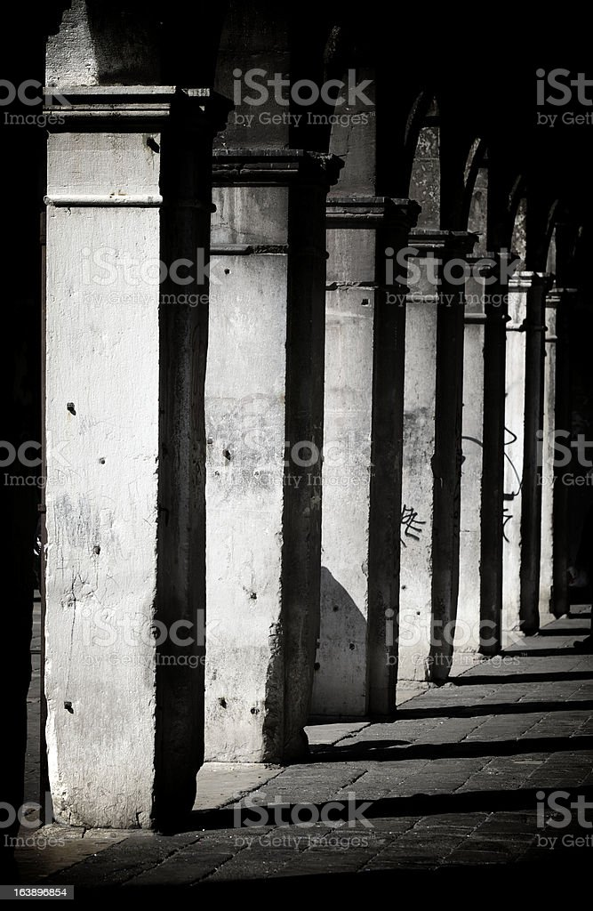 Colonnade In Venice royalty-free stock photo
