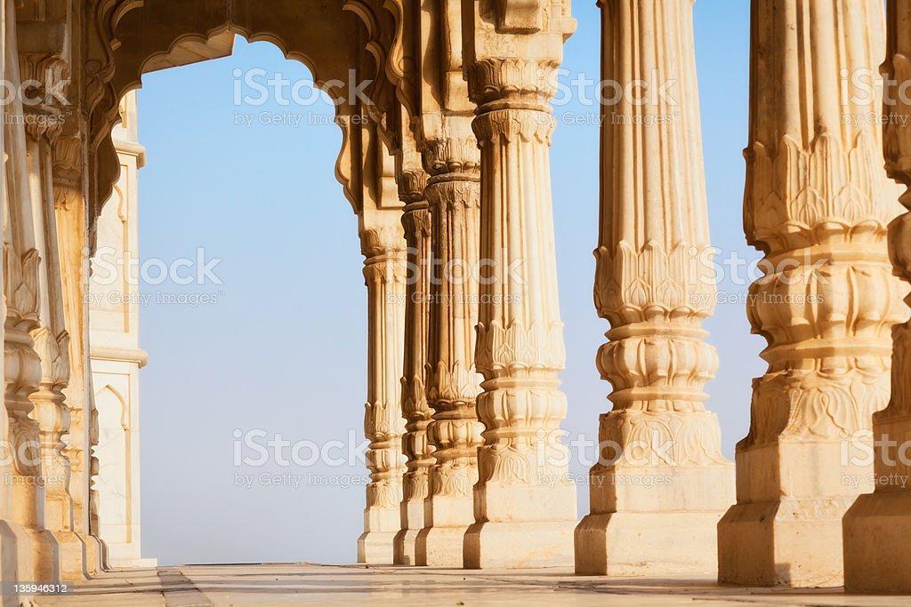 Colonnade of Jaswant Tada stock photo
