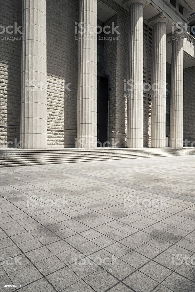 Colonnade of retro building royalty-free stock photo