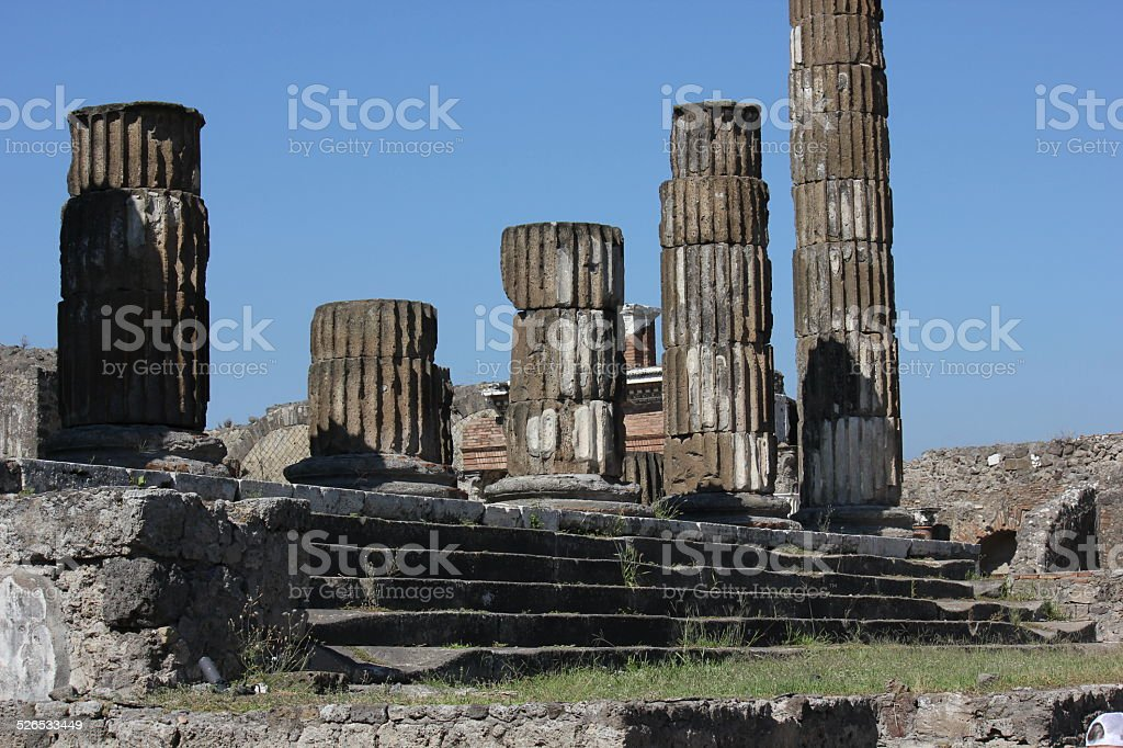 Colonnade of The Temple of Jupiter stock photo