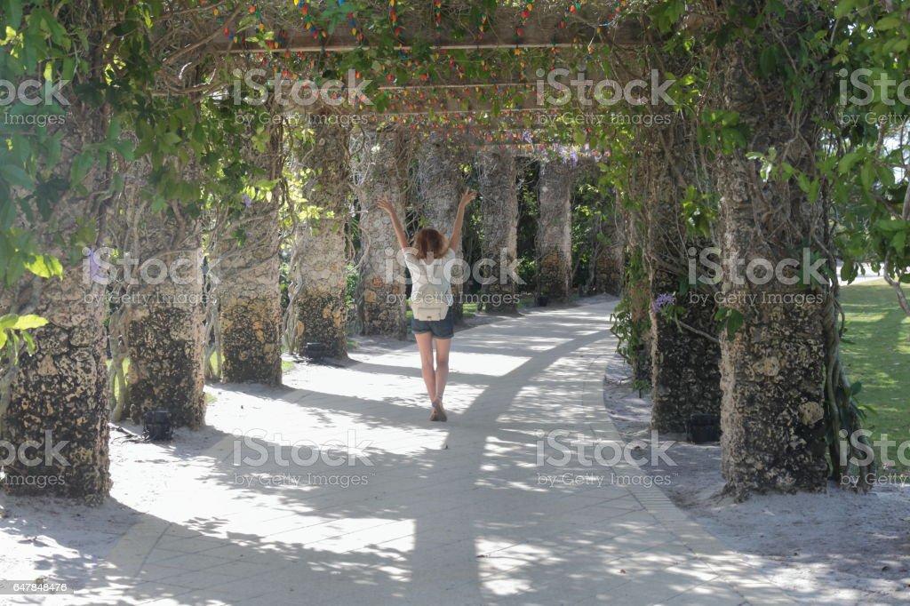 Colonnade walk. stock photo
