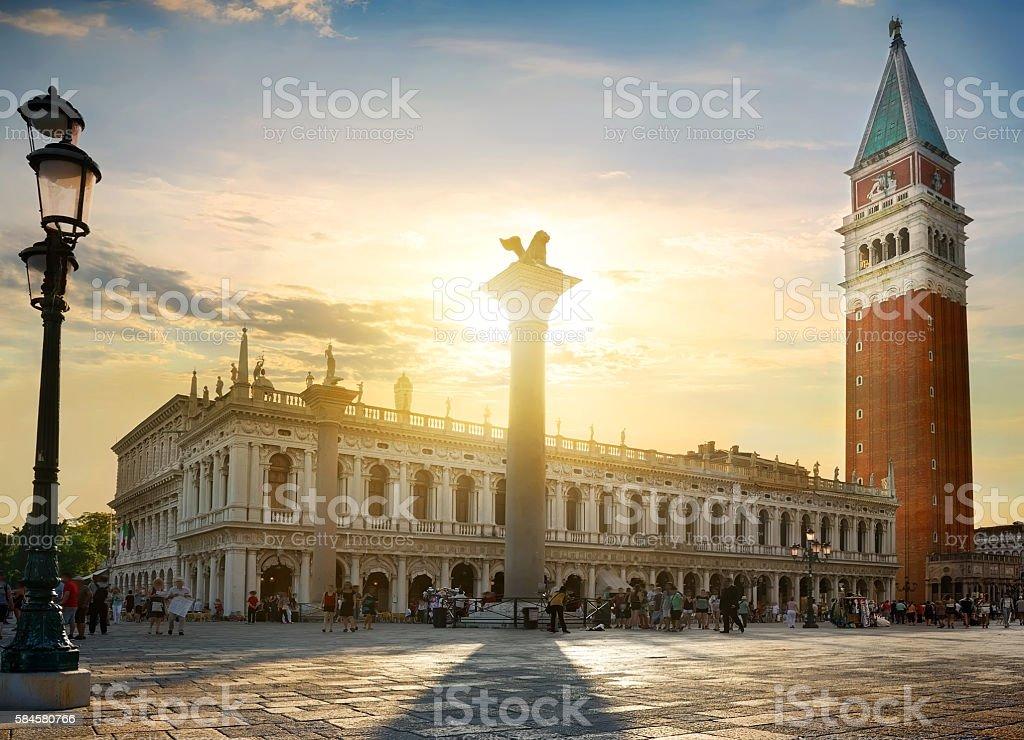 Colonne di San Marco stock photo