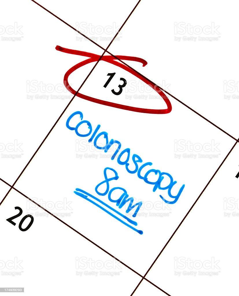 Colonoscopy Appointment stock photo