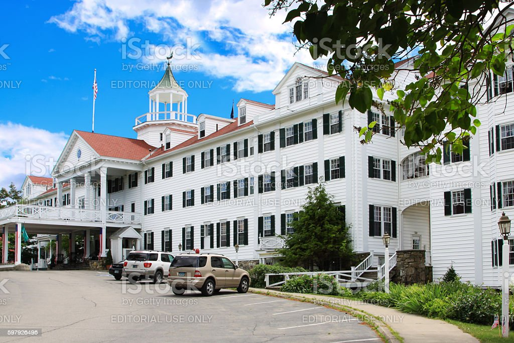 Colony Hotel in Kennebunkport, Maine, USA. stock photo
