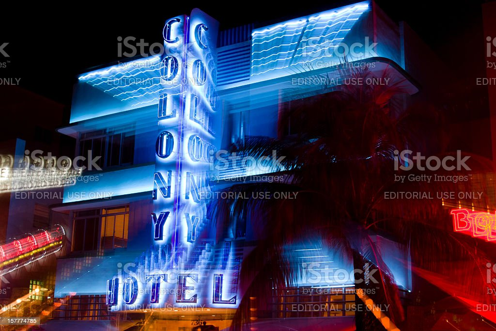 Colony Hotel, South Beach, Miami, Florida royalty-free stock photo