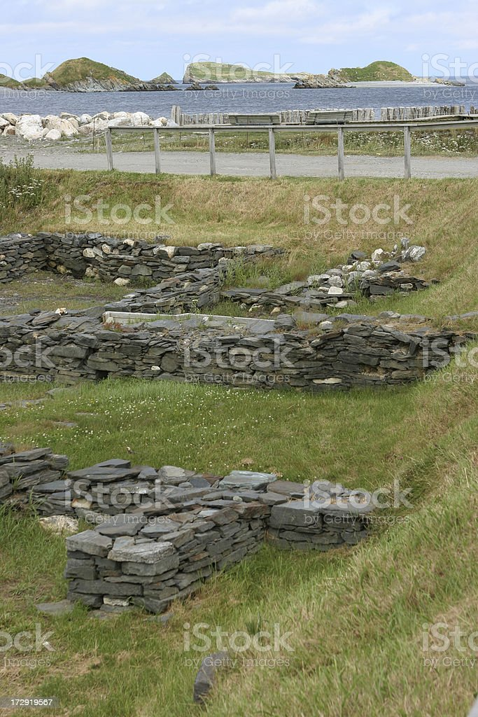 Colony of Avalon remains, Ferryland Archaeological Dig, NFLD royalty-free stock photo