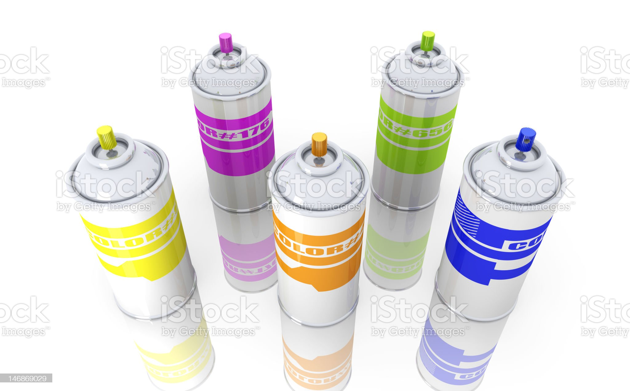 Color Aerosol Cans royalty-free stock vector art