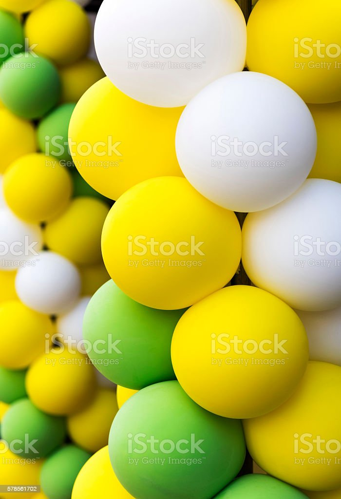 Color air balloons background stock photo