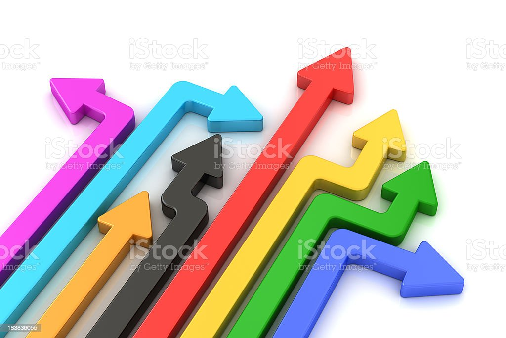 color arrow royalty-free stock photo