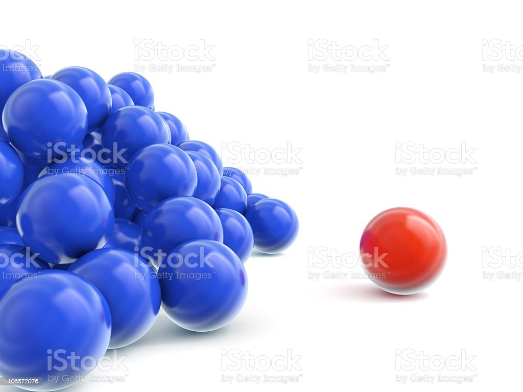 color balls crowd royalty-free stock photo