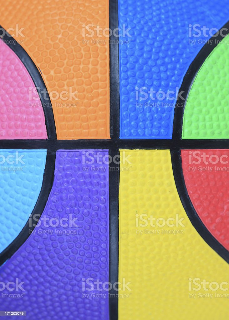 Color Basketball royalty-free stock photo