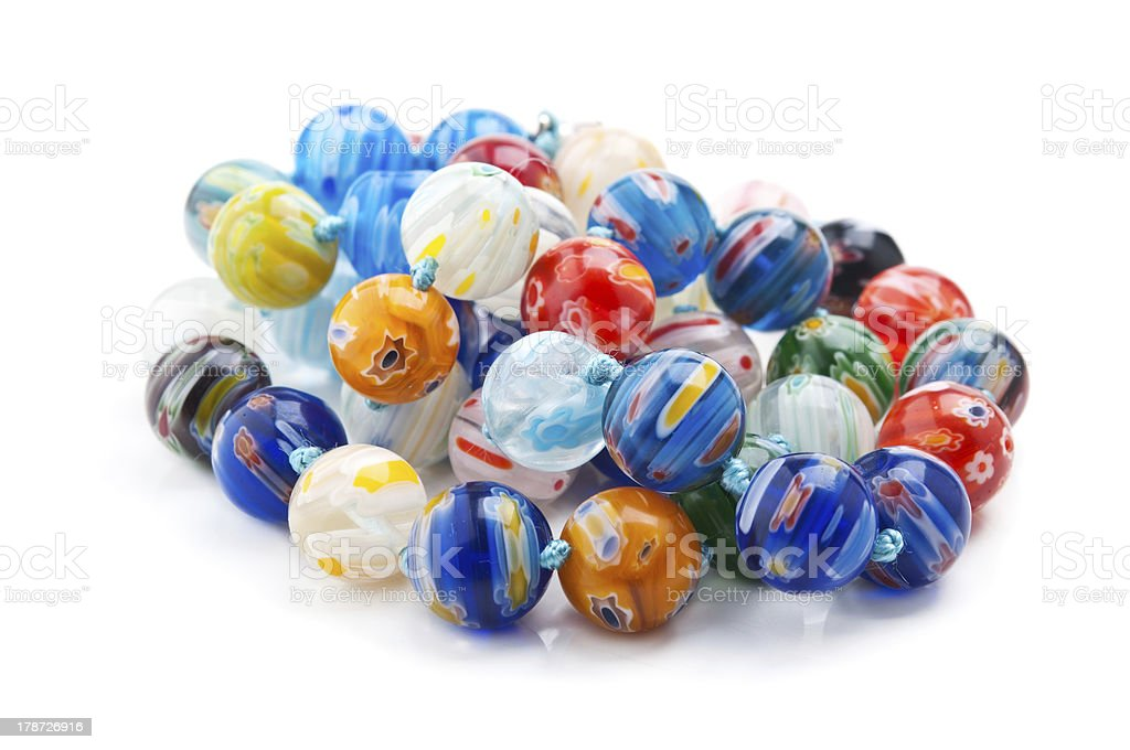 color beads isolated royalty-free stock photo