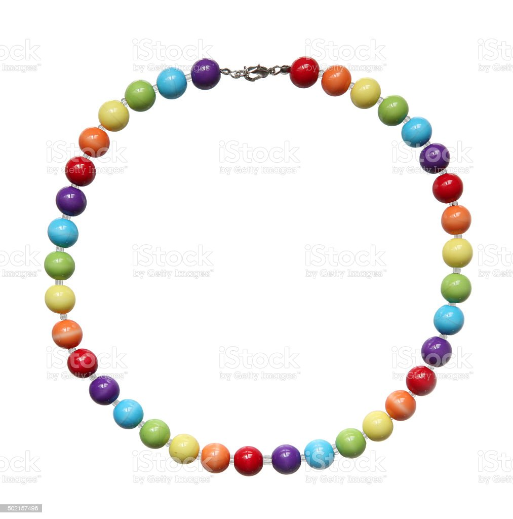 Color beads. stock photo