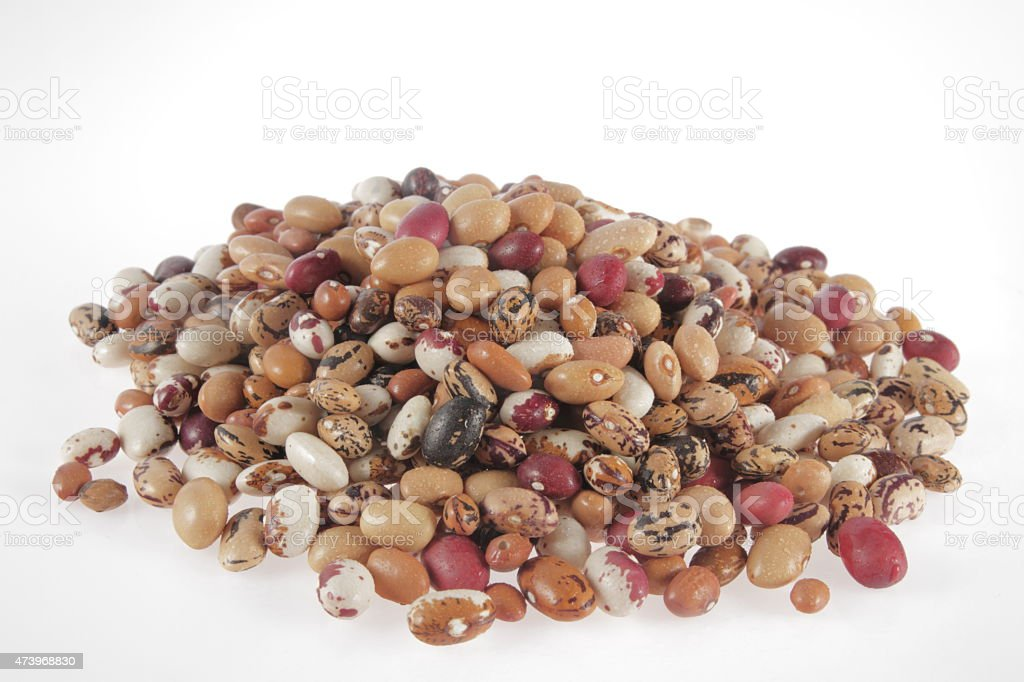 color beans stock photo