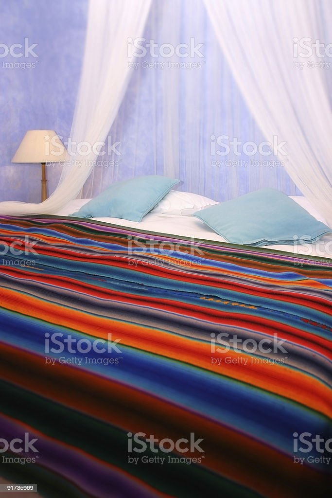 Color bedroom royalty-free stock photo