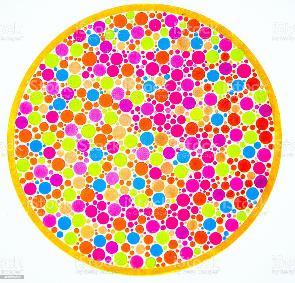 Test Color Blind Color Blind Test 3 Stock Photo 485584581