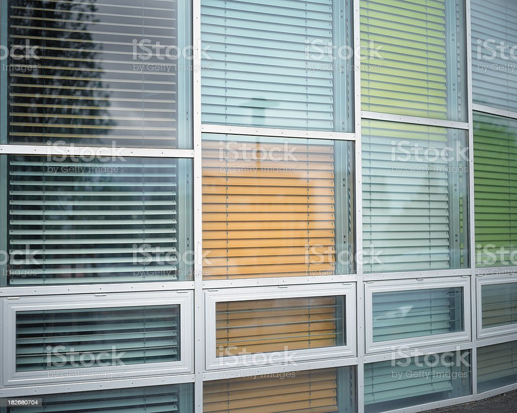 Color blinds, Berlin, Germany. stock photo