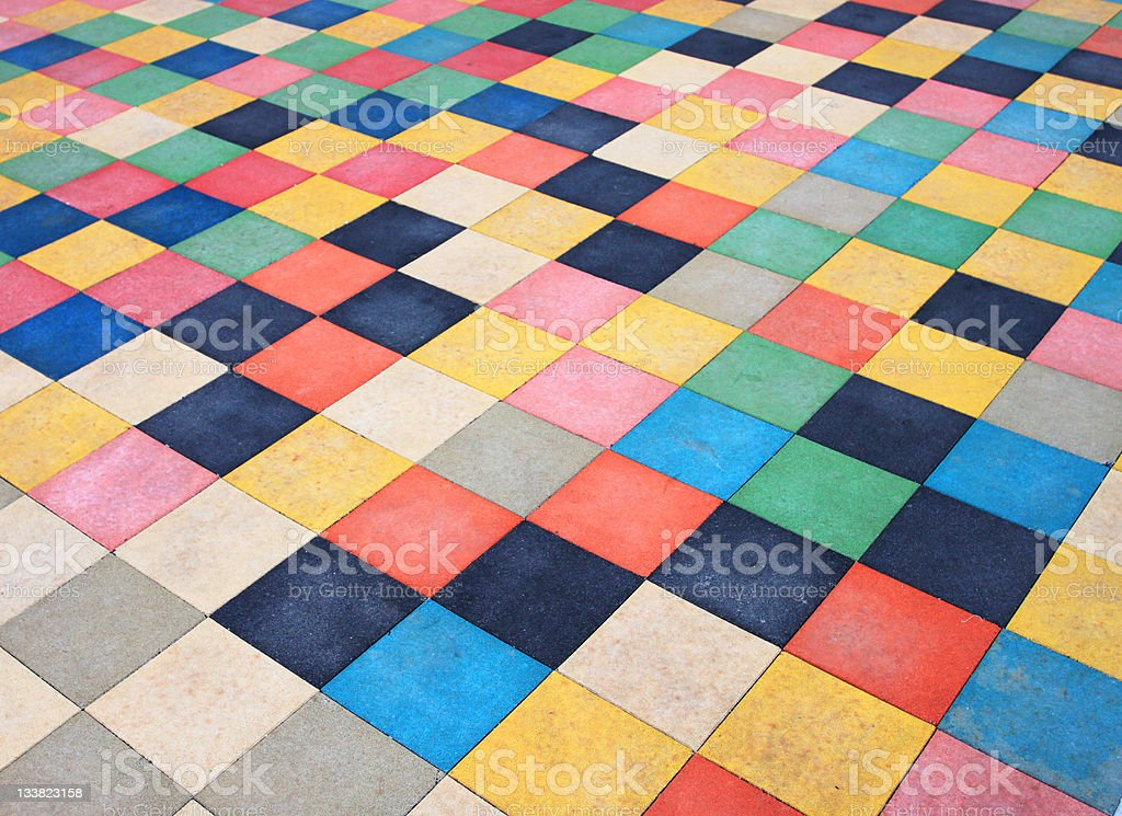 Color Block Rug royalty-free stock photo