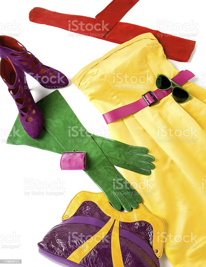 Color block still life fashion composition royalty-free stock photo