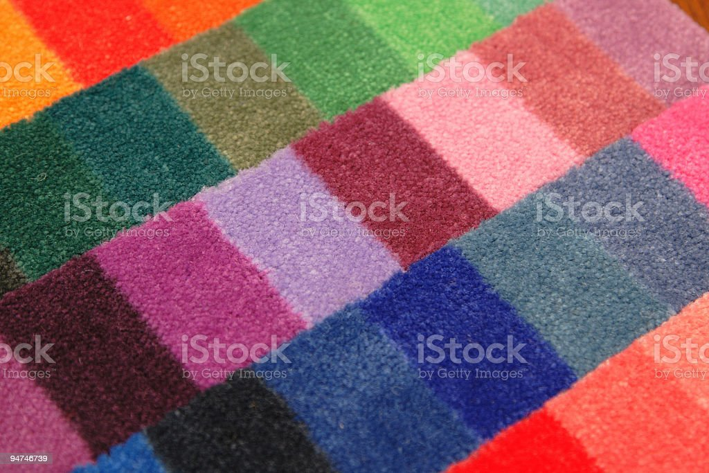 color board of carpet samples stock photo
