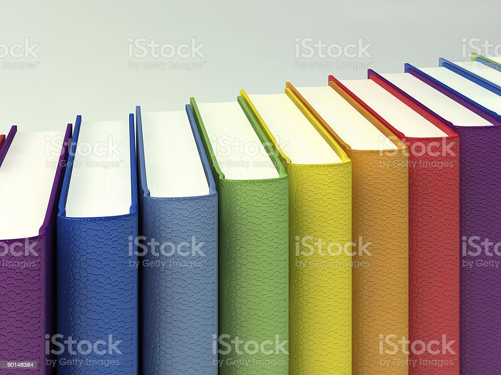 Color books royalty-free stock photo