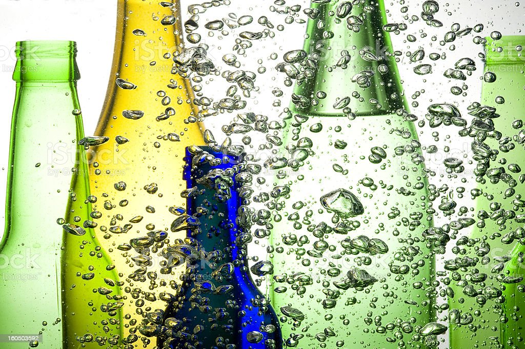 Color bottles royalty-free stock photo