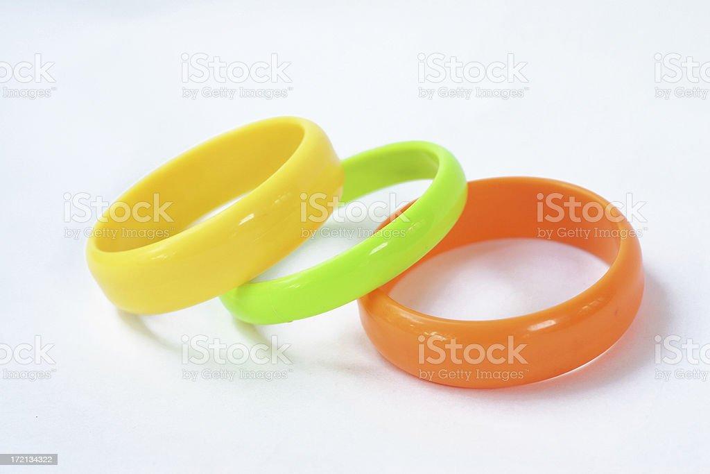 color bracelets stock photo