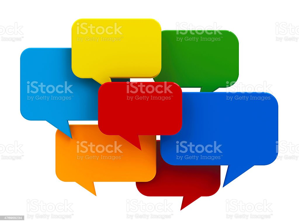 Color bubble talk stock photo