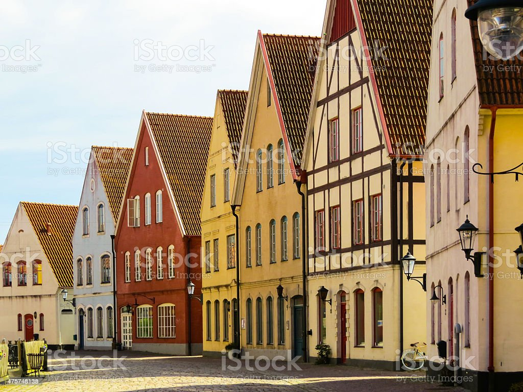 Color buildings stock photo