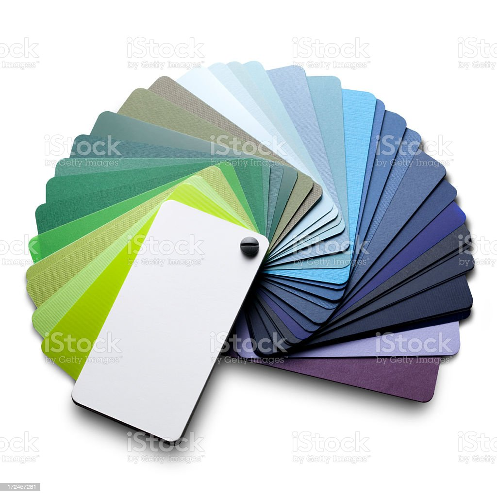Color card. Cool colors. royalty-free stock photo